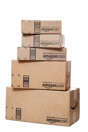 Stack of Amazon.com Packages